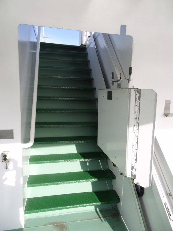 Minder valide lift op achterdek